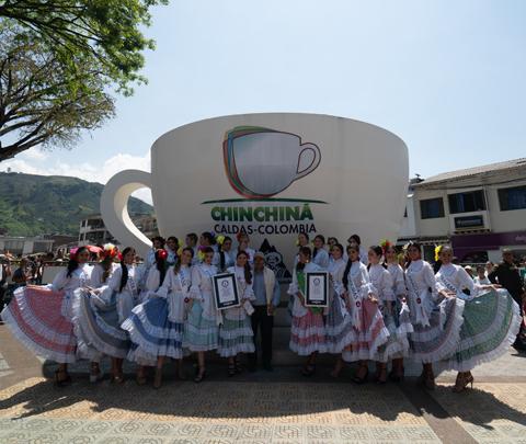 Las candidatas del Reinado Internacional del Café celebraron su día con Buendía